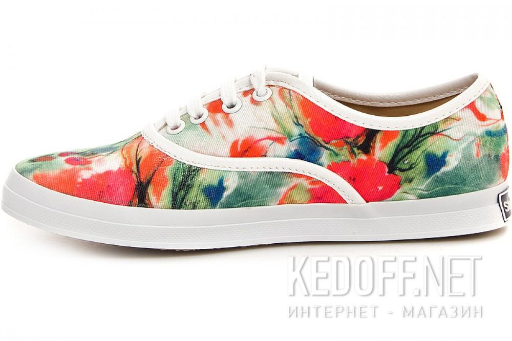 Текстильная обувь Las Espadrillas 513-222 унисекс   (зеленый/красный) купить Киев
