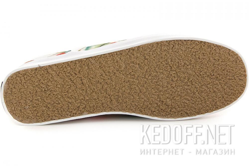 Текстильная обувь Las Espadrillas 513-222 унисекс   (зеленый/красный) описание