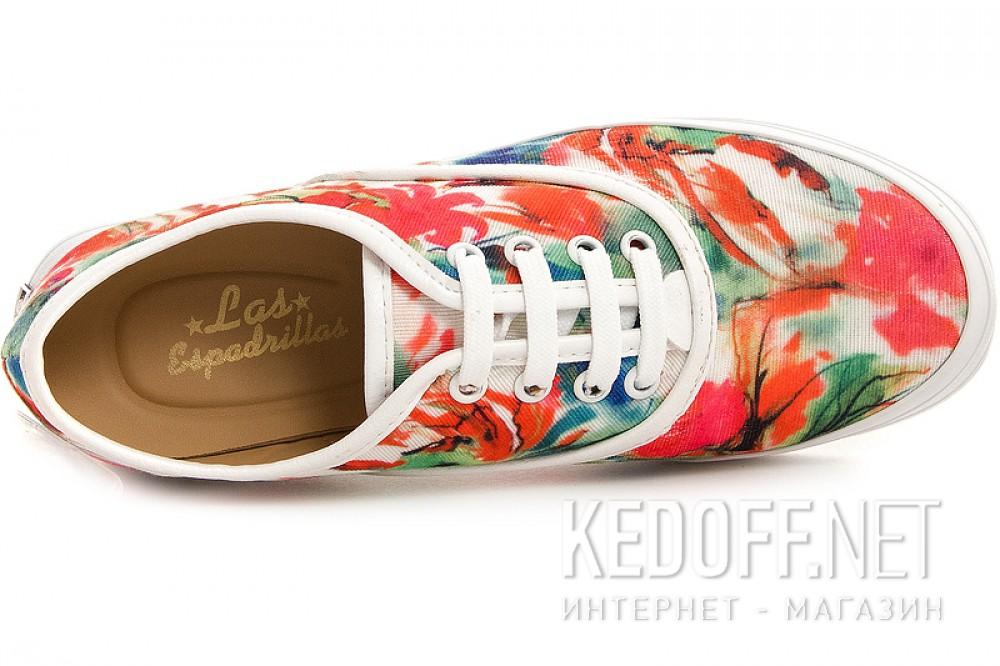 Цены на Текстильная обувь Las Espadrillas 513-222 унисекс   (зеленый/красный)