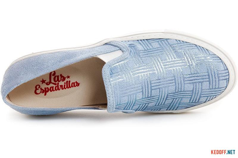 Женские слипоны Las Espadrillas 5255 Sl Голубого цвета