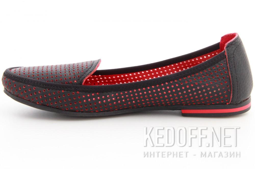 Мокасины Las Espadrillas 530908-AE (чёрный/красный) купить Украина
