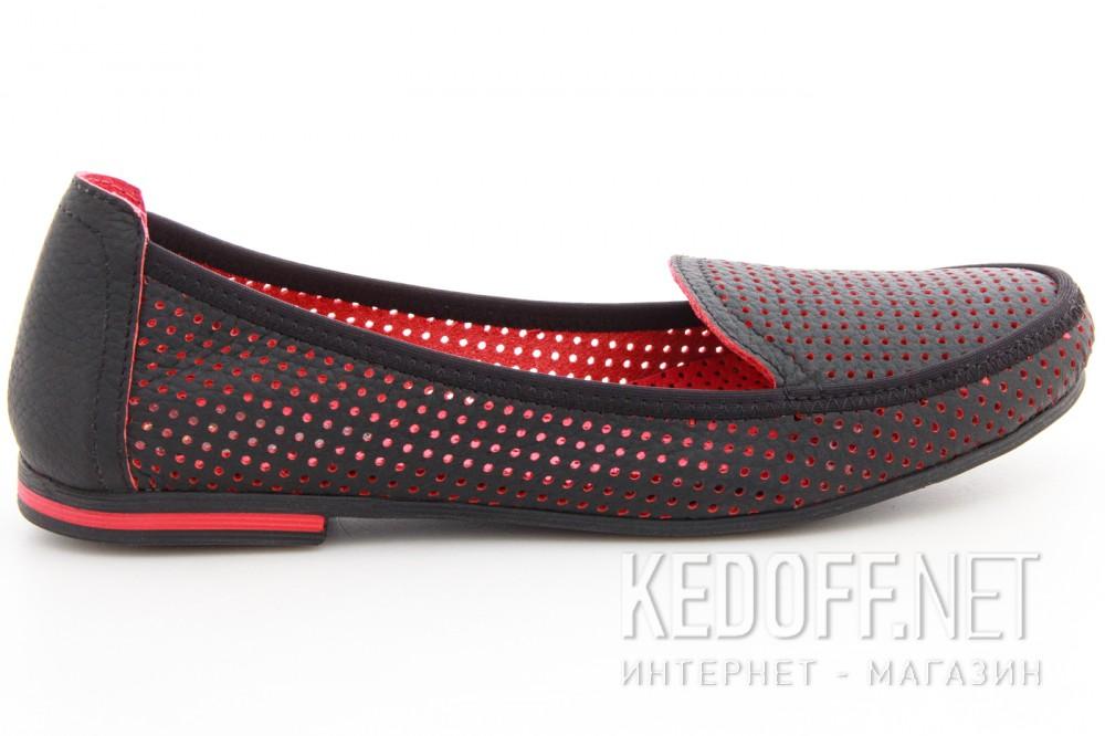 Мокасины Las Espadrillas 530908-AE (чёрный/красный) купить Киев