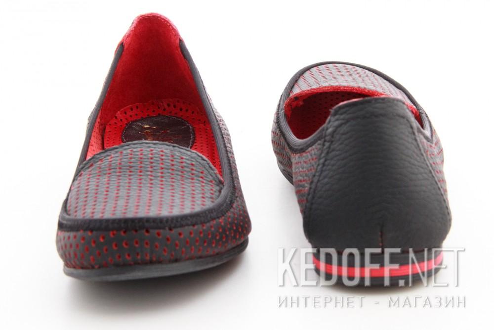 Мокасины Las Espadrillas 530908-AE (чёрный/красный) описание