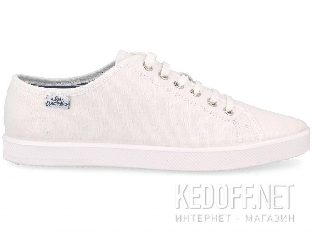 Белые кеды Las Espadrillas All White 6099-1313 купить Украина