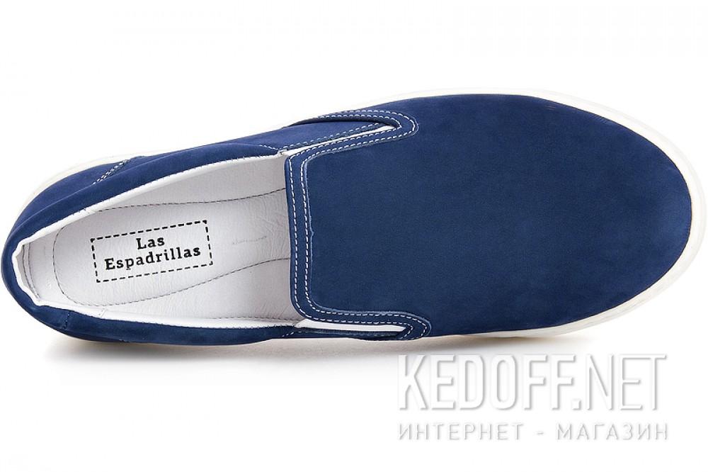 Men's moccasins Las Espadrillas 6215-41Sl Blue nubuck