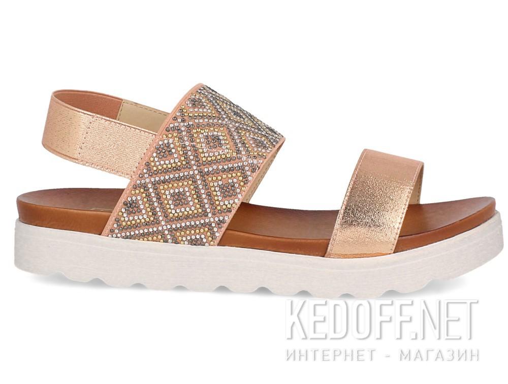 Женские сандалии Las Espadrillas Miss Folx 7912-34   (розовый) купить Украина