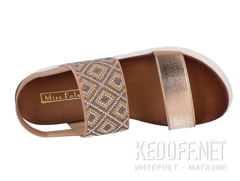 Оригинальные Женские сандалии Las Espadrillas Miss Folx 7912-34   (розовый)