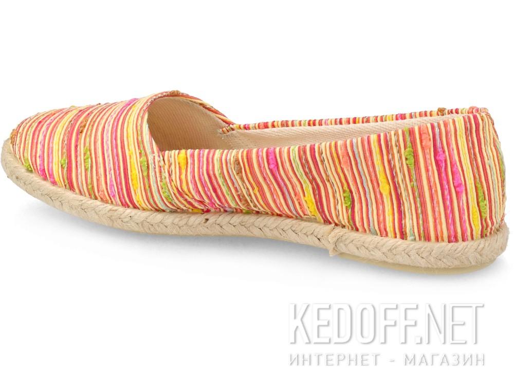 Балетки Las Espadrillas FV7913-4721 унисекс   (красный/жёлтый) купить Украина