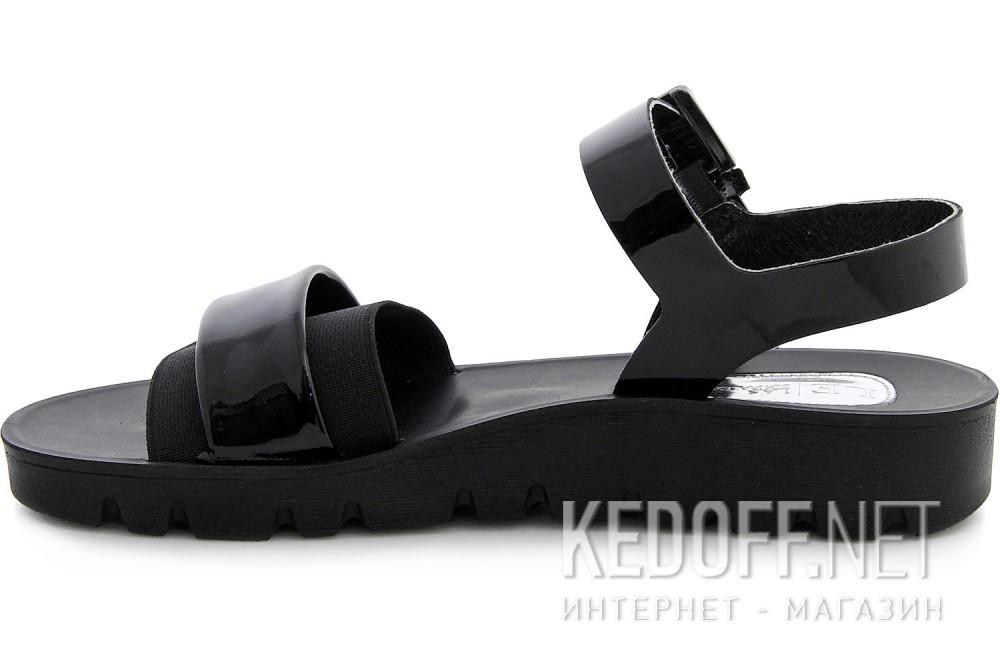 Sandals Las Espadrillas All Black D005-27 Molded outsole