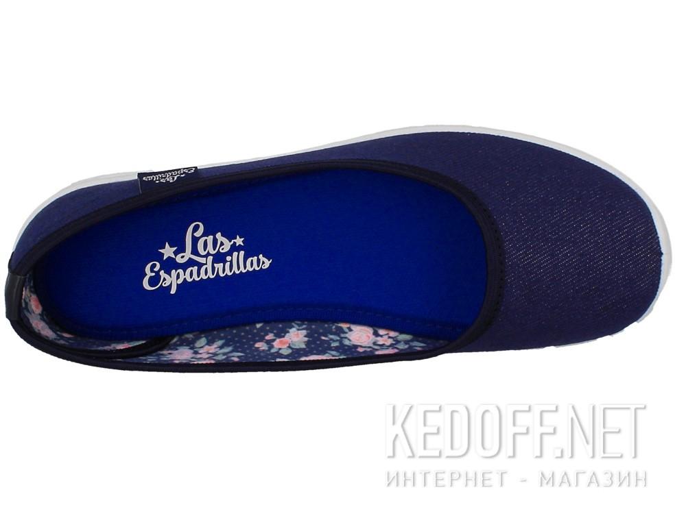 Балетки Las Espadrillas Denim 22636-80 (темно-синій) описание