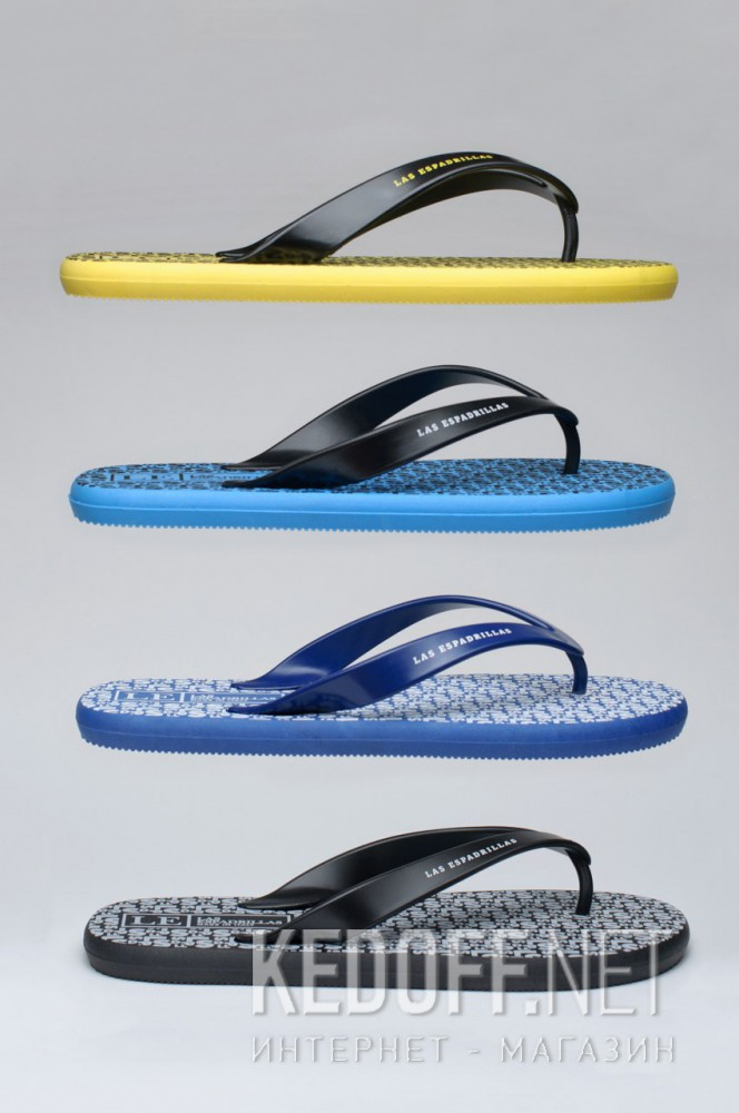 Мужские вьетнамки Las Espadrillas Flip Flops F6574-2127 Made in Italy