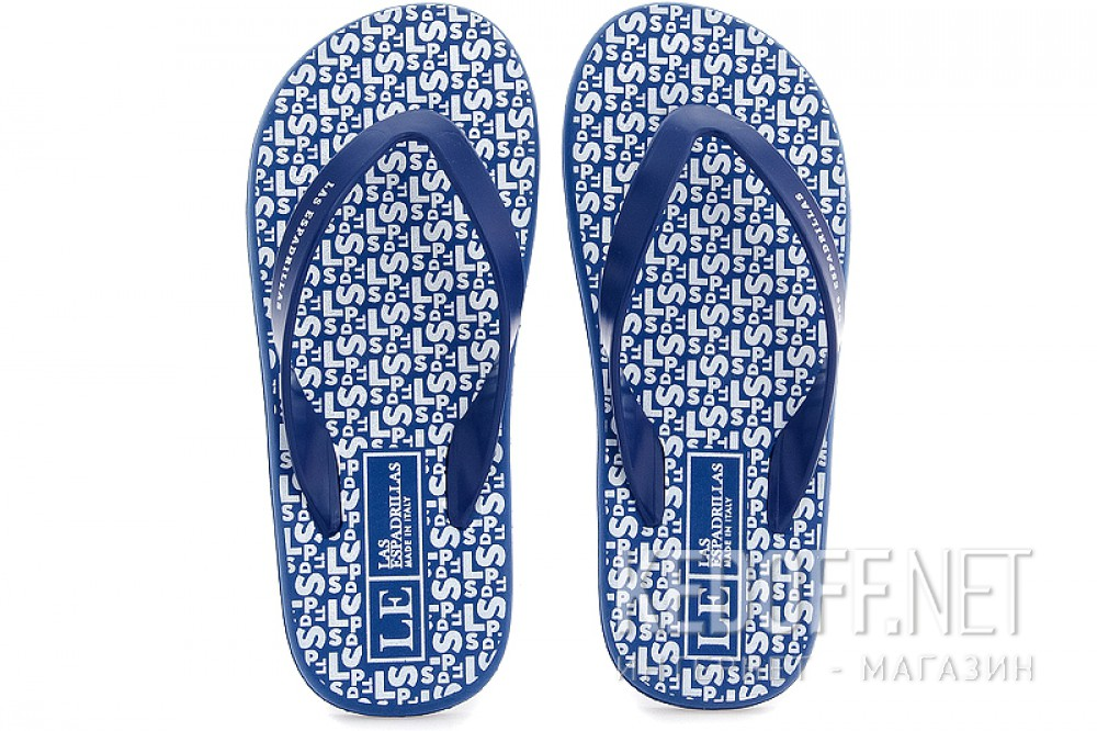 Men's flip flops Las Espadrillas Flip Flops F6574-8913 Made in Italy