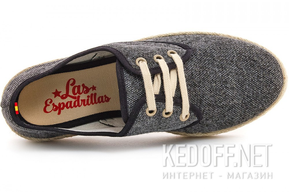 Comfortable loafers Las Espadrillas Negro Fv5503-27 Made in Spain