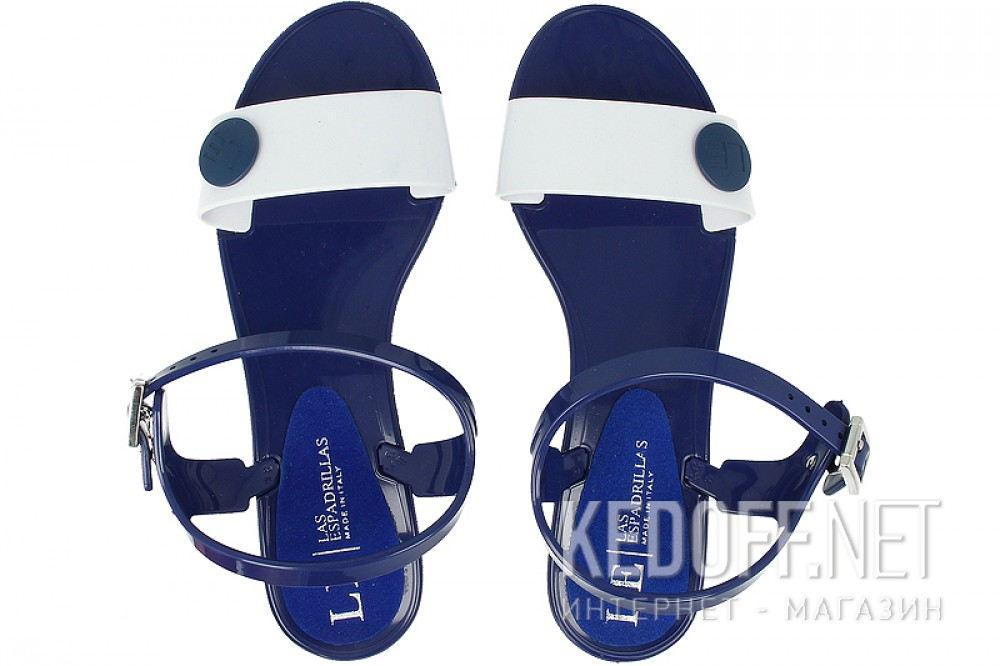 Summer sandals Las Espadrillas Jelly V6565 2-8913 Made in Italy