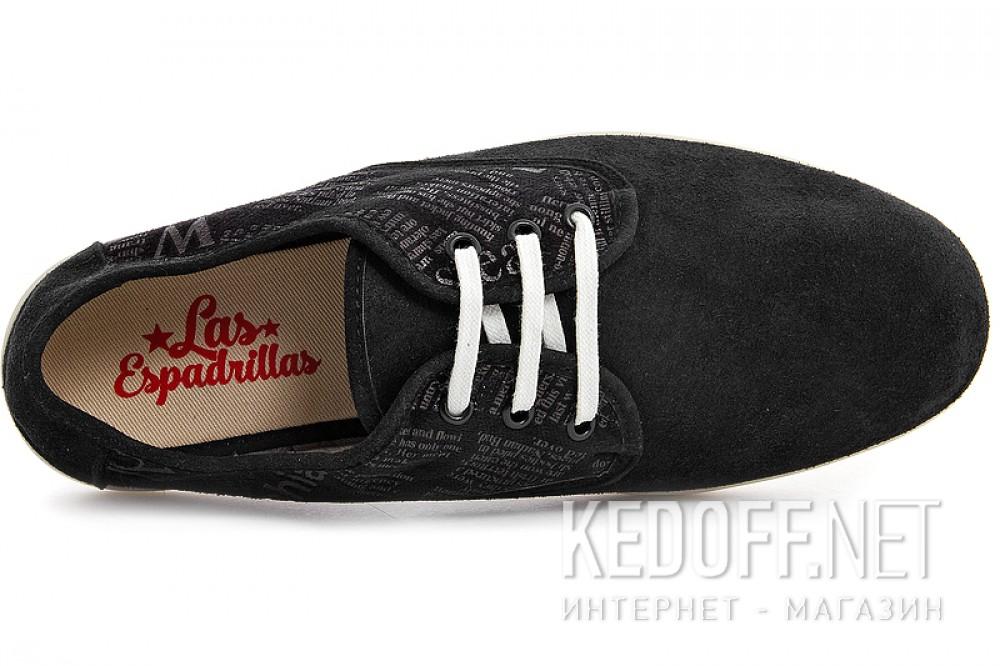 Men's sneakers low Las Espadrillas Kd613-27 Black suede