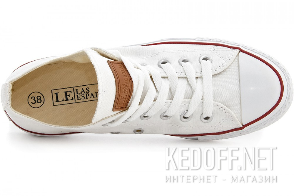 Sneakers Las Espadrillas Wht Classic Low Le38-7652 ordinary Leather shoelaces
