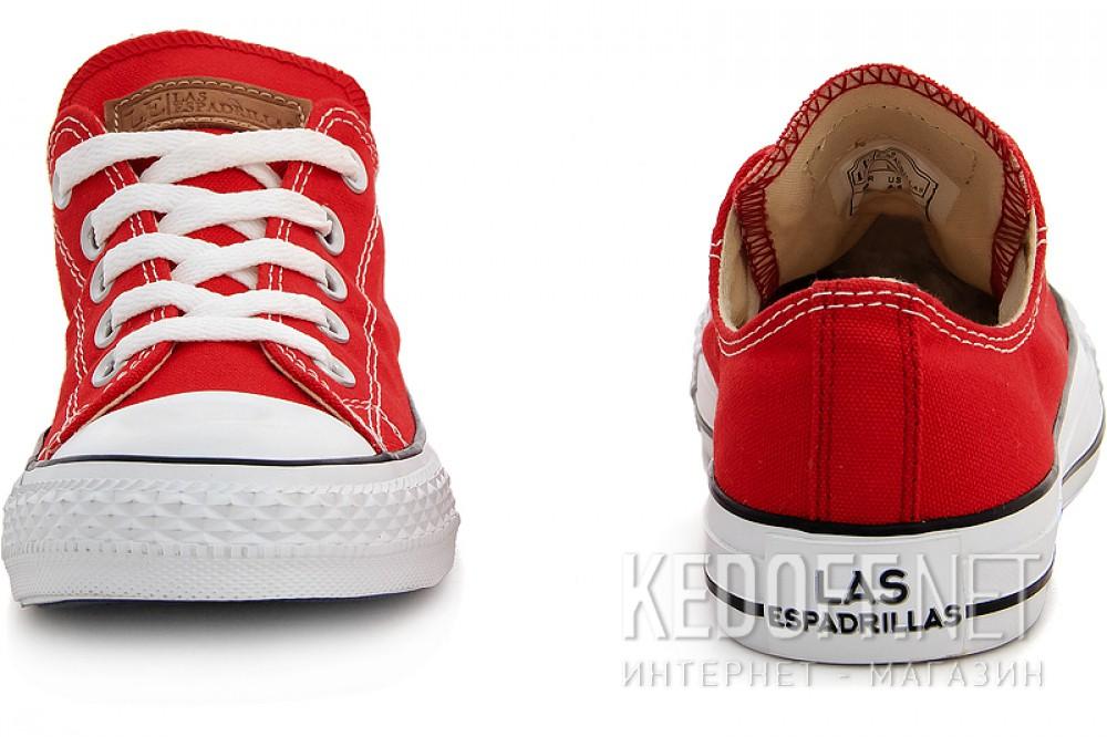 Кеды Las Espadrillas LE38-9696 унисекс   (красный) купить Украина