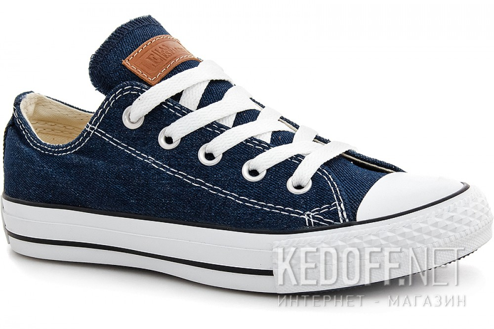 Denim sneakers Las Espadrillas Denim Classic Low Le38-9697 ordinary Leather shoelaces
