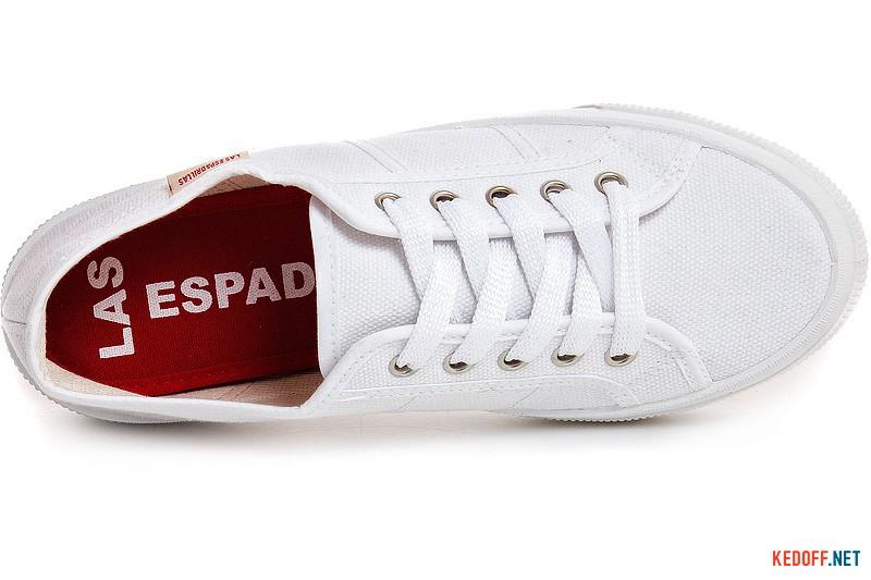 Білі кеди Las Espadrillas S0113 Made in Spain