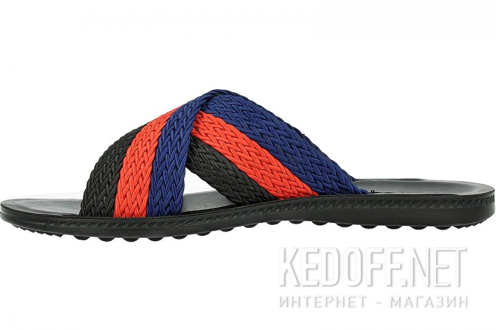 Сланцы и шлепанцы Las Espadrillas T021-27 унисекс   (красный/синий/чёрный) купить Украина