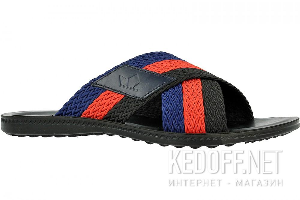 Купить Сланцы и шлепанцы Las Espadrillas T021-27 унисекс   (красный/синий/чёрный)
