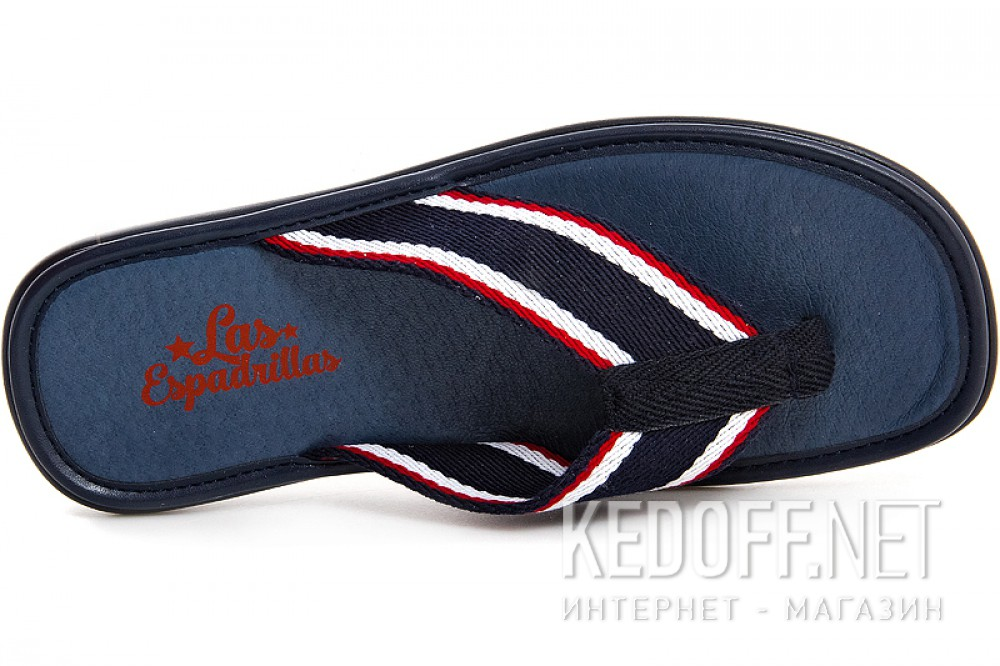 Мужские вьетнамки Las Espadrillas V1281-89   (синий) купить Киев