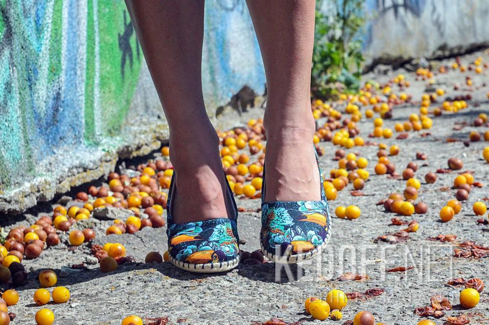 Балетки Las Espadrillas V5903-24   (голубой/фиолетовый/жёлтый) доставка по Украине