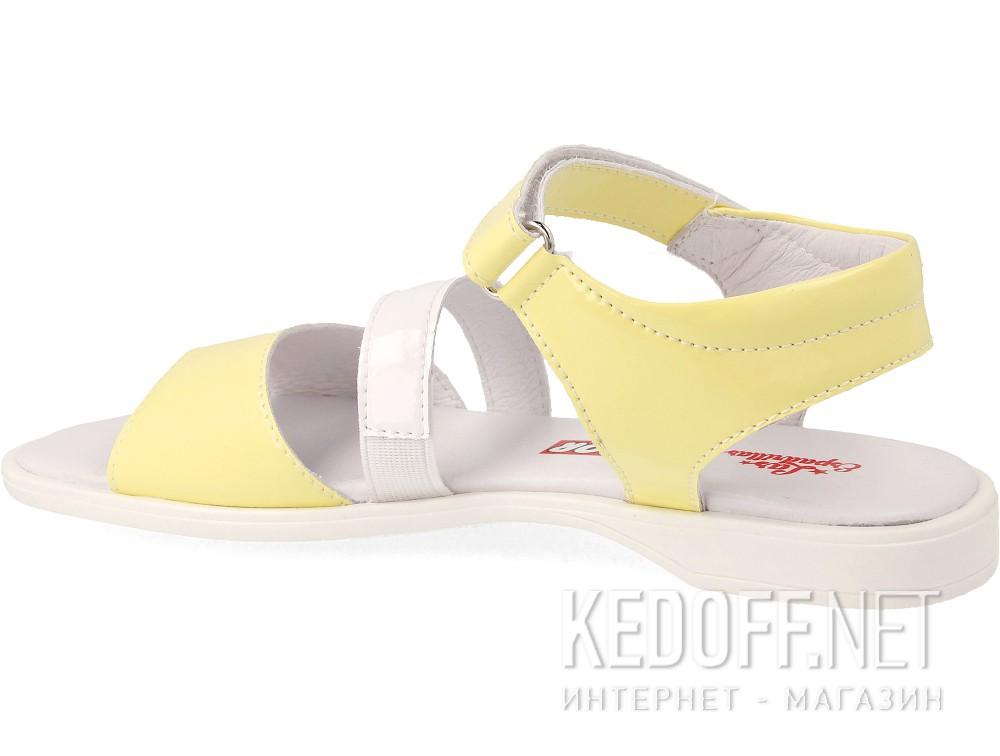 Босоножки Las Espadrillas 4583-07(жёлтый/белый) купить Киев