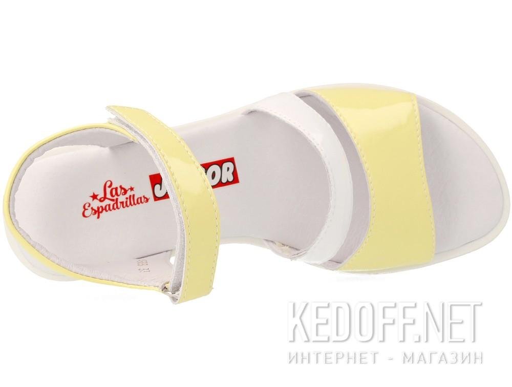 Босоножки Las Espadrillas 4583-07(жёлтый/белый) все размеры