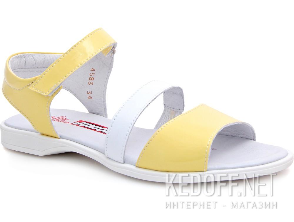 Купить Босоножки Las Espadrillas 4583-07(жёлтый/белый)