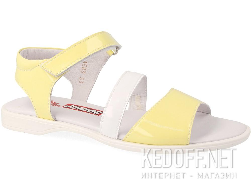 Босоножки Las Espadrillas 4583-07(жёлтый/белый) купить Украина