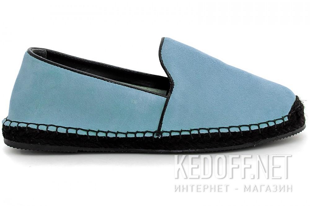 Літні еспадрільї Las Espadrillas 3080-40 Блакитна замша