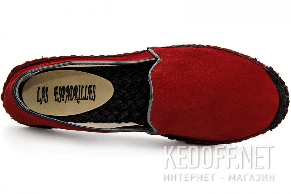 Летние эспадрильи Las Espadrillas 3080-47 Красная замша