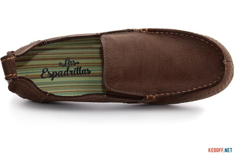 Мокасини чоловічі Las Espadrillas 502-45 Світло-коричневі