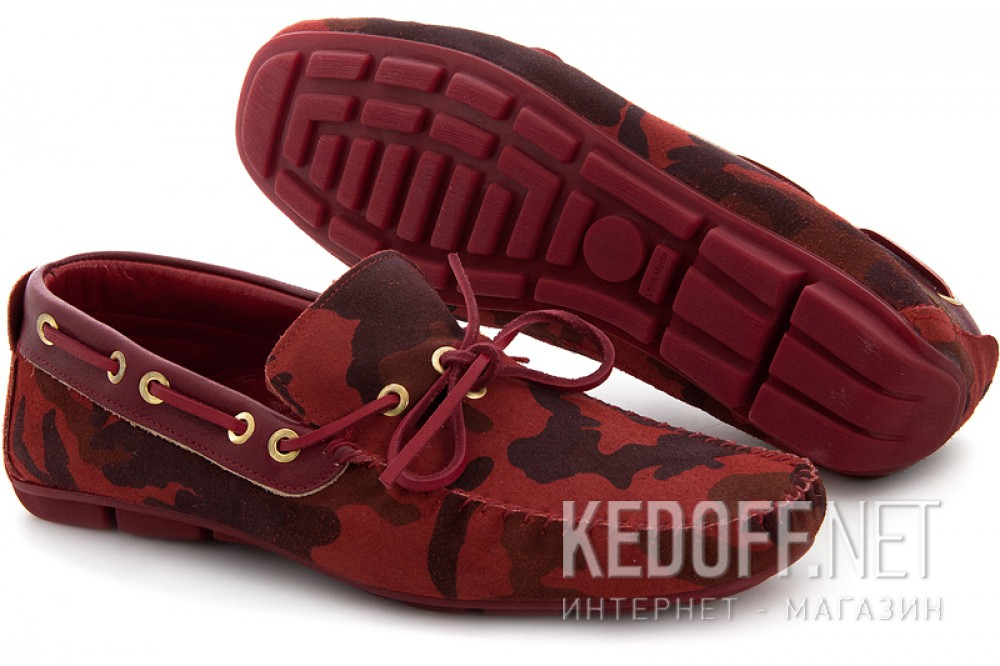 Loafers Subway 4125-1 Red Camouflage