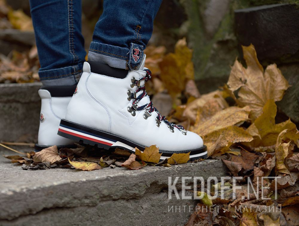 Цены на Ботинки Moncler Blanche Boots White Vibram - Made in Italy