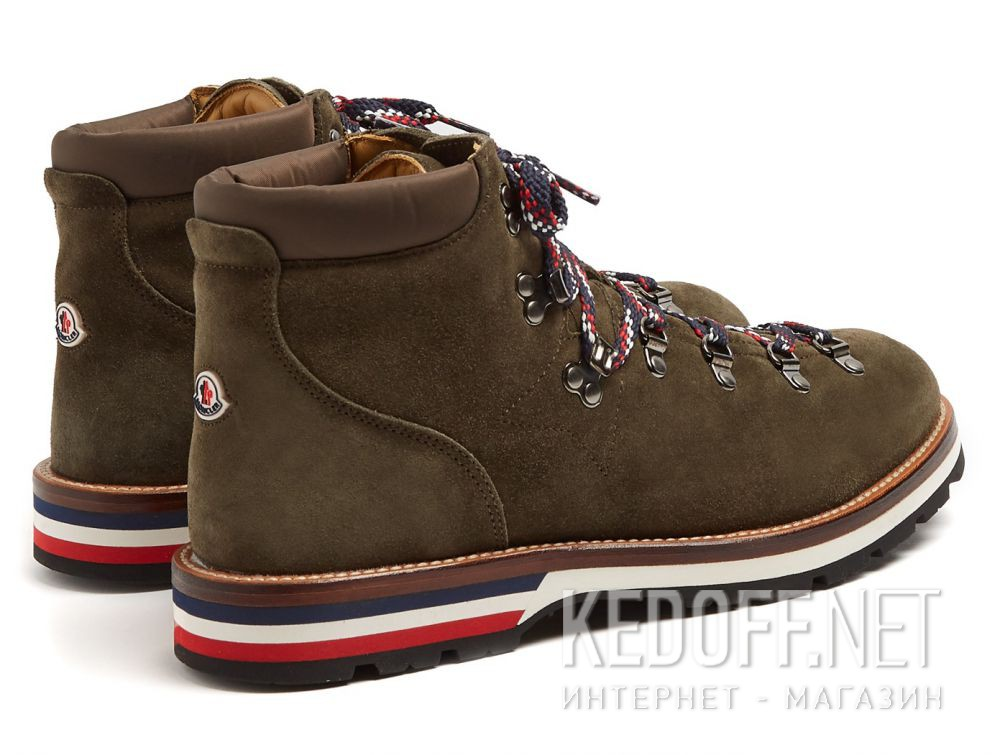 Доставка Ботинки Moncler Peak Green Suede Vibram Made in Italy