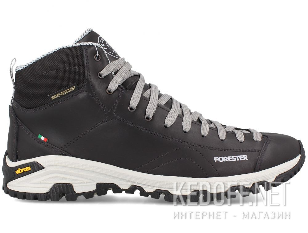 Мужские ботинки Forester Black Vibram 247951-27 Made in Italy купить Киев