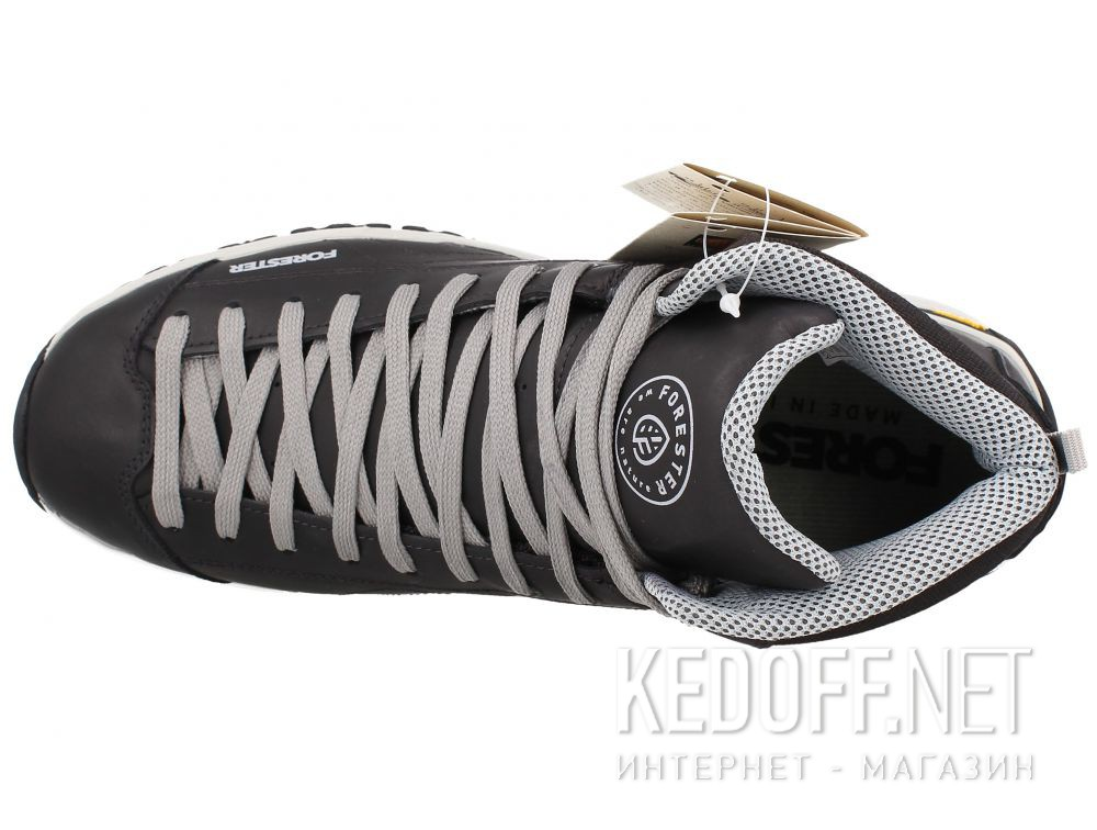 Оригинальные Мужские ботинки Forester Black Vibram 247951-27 Made in Italy