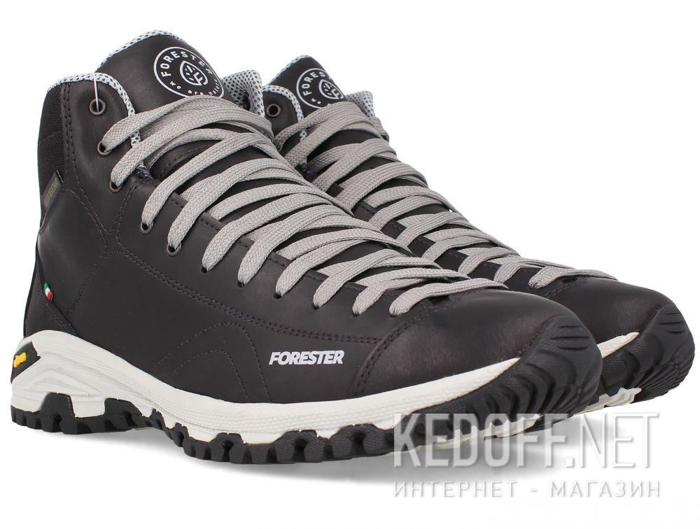 Мужские ботинки Forester Black Vibram 247951-27 Made in Italy доставка по Украине