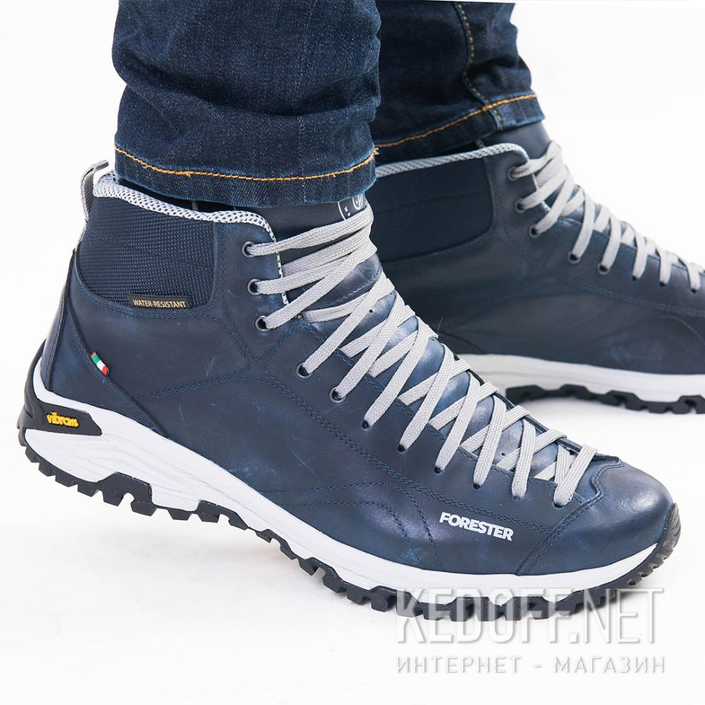 Цены на Мужские ботинки Forester Navy Vibram 247951-89 Made in Italy