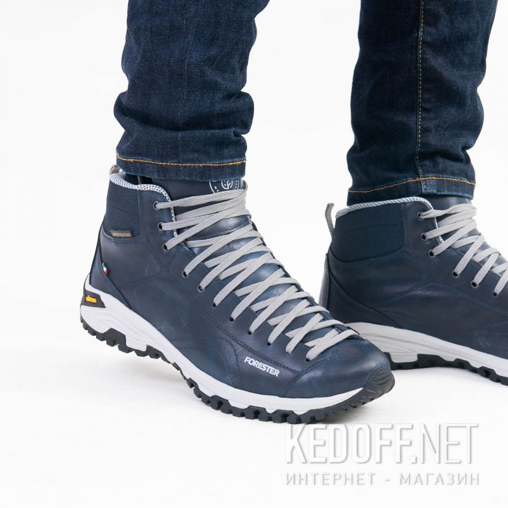 Доставка Мужские ботинки Forester Navy Vibram 247951-89 Made in Italy