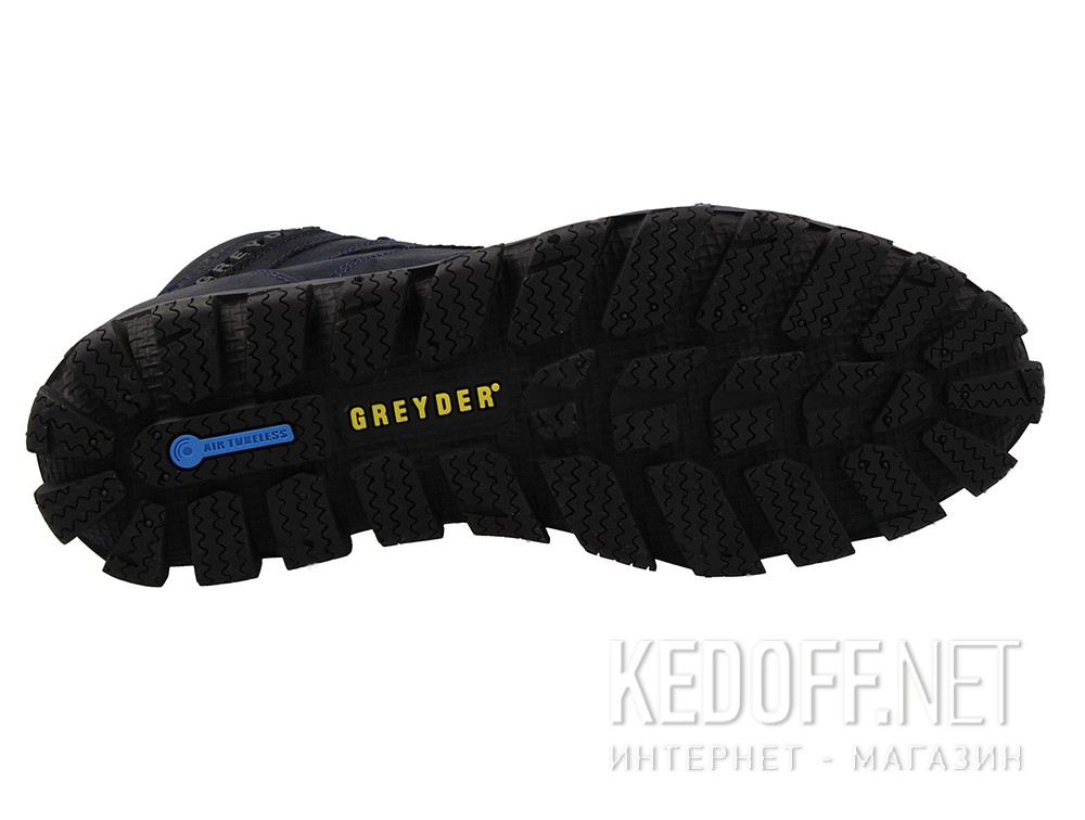 Чоловічі черевики Greyder Comfort 11650-072 Темносиняя шкіра крейзі