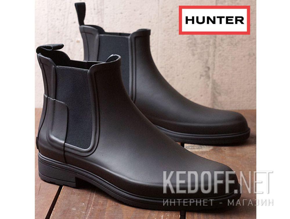 Оригинальные Чоловічі черевики Hunter M Org Refined Chelsea MFS9060RMA BLACK