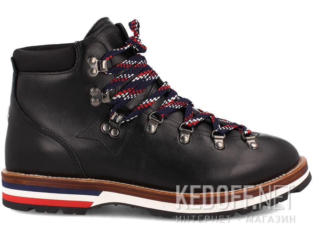 Мужские ботинки Mon Cler PEAK Vibram Black Leather Made in Italy купить Киев