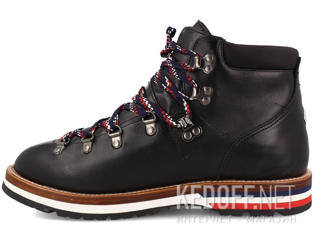 Оригинальные Мужские ботинки MonCler PEAK Vibram Black Leather Made in Italy