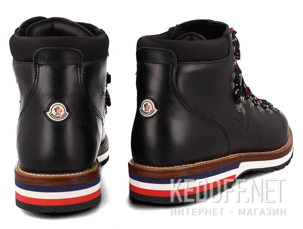 f31f92aa3ae MonCler mens boots Vibram Black Leather PEAK Made in Italy