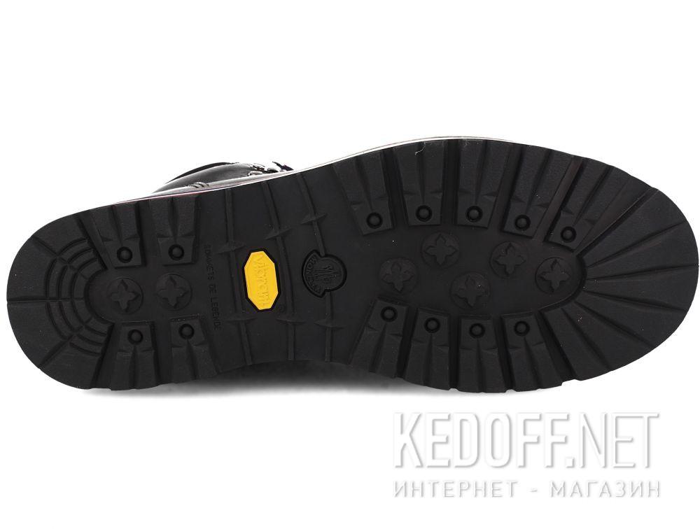 Мужские ботинки MonCler PEAK Vibram Black Leather Made in Italy все размеры