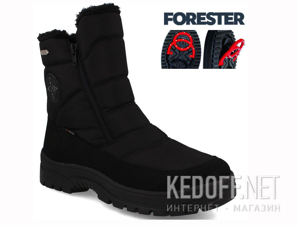 Доставка Мужские ботинки зимоходы Forester Attiba 58403-27 Made in Italy