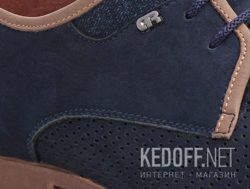 Мужские классические туфли Forester 1685-052   (синий) купить Киев